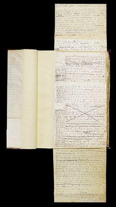 """Marcel Proust. Le Temps retrouvé, BNF. À l'époque du Contre Sainte-Beuve, Proust avait déjà l'intention de clore son roman sur le thème de la fuite du temps. Dans un cahier de 1909 figure une """"soirée"""" chez la princesse de Guermantes, devenue """"matinée"""" dans des brouillons de 1910-1911, au cours de laquelle le Narrateur constate les ravages opérés par le temps sur les personnes qu'il a connues dans sa jeunesse."""