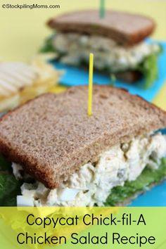 Copycat Chick-fil-A Chicken Salad #CFA #ChickfilA