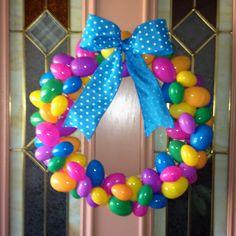 Pinterest inspired Easter wreath