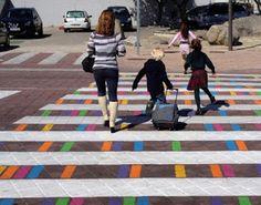 Pregopontocom Tudo: Ruas de Madri ganham faixas de pedestres divertida...
