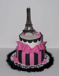 paris birthday cake | OH LA LA! Paris theme Birthday cake | Flickr - Photo Sharing!