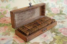 Wooden Alphabet Stamp Set/ $29.00