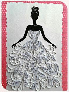 Paper Quilling Designs, Quilling Paper Craft, Quilling Patterns, Paper Crafts, Diy And Crafts, Arts And Crafts, Nail String Art, Button Picture, Silhouette Art