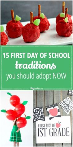 First Day of School Traditions  via @tipjunkie