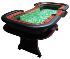 """96"""" Premium Craps table with extra features - green"""