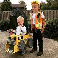 Costumes bulldozer costume construction costume Halloween kids ideas