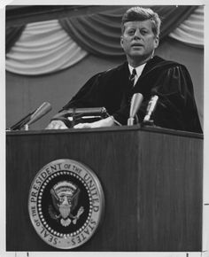 1963. 25 Septembre. Grand Forks, North Dakota. John F. Kennedy at University of North Dakota