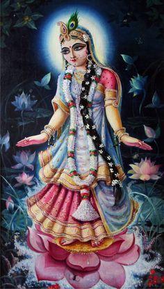 radha rani as the moon | Peace and Happiness know GOD