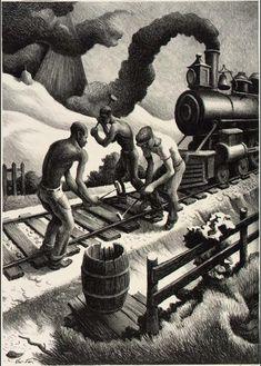 'Ten Pound Hammer' Thomas Hart Benton (1889-1975, United States)