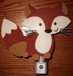 Adorable Forest Friends Fox Nursery Night Light
