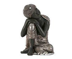 BUDAS & Co.: Figura de Buda sentado de resina – bronce
