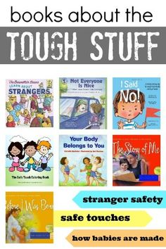 Books about the Tough Stuff: Stranger Safety, Safe Touches, and How Babies Are Made. Books can help explain tough subjects to talk about with kids. Kids Reading, Reading Themes, Reading Skills, Child Life, Children's Literature, Childrens Books, Kid Books, Baby Books, Livros