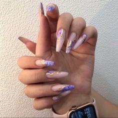 Purple Nail Designs, Cute Acrylic Nail Designs, Best Acrylic Nails, Nail Art Designs, Wow Nails, Nails Now, Chic Nails, Stylish Nails, Sparkle Nails