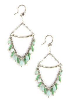 Amazonite Beaded Dangle Earrings