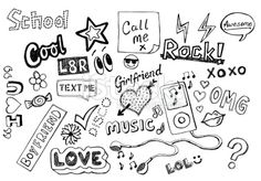 Teenager doodles Royalty Free Stock Photo