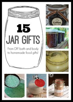 15 DIY Gifts in a Jar #homemadegifts #homemadechristmasgifts #giftsinajar