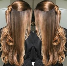 Hairstyles long thin colour 37 new Ideas Hair Lights, Light Hair, Balayage Hair, Ombre Hair, Blonde Hair, Hair Highlights, Hair Looks, Straight Hairstyles, Trendy Hairstyles