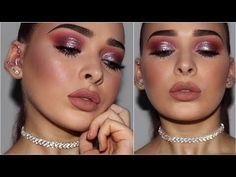 (Watch in HD) Here is a new makeup tutorial where I create a half cut crease look using the Huda Beauty Desert Dusk Palette! Burgundy Eyeshadow, Glitter Eyeshadow, Eyeshadow Makeup, Bright Eyeshadow, Liquid Eyeshadow, Cream Eyeshadow, Glitter Gel, Gold Glitter, Eyeshadow Brands