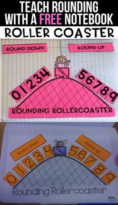Teaching Rounding with Rollercoasters FREE rounding rollercoaster to teach your math students how to round. Perfect for first grade, second grade, third grade, and fourth grade. Fourth Grade Math, Second Grade Math, Rounding 3rd Grade, Teaching Second Grade, Second Grade Centers, Rounding Activities, 3rd Grade Activities, Math Worksheets, Grade 2 Maths