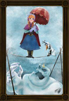 Disney Frozen Anna Haunted Mansion Fan Art 13 x 19 inch poster Disney Nerd, Disney Fan Art, Cute Disney, Disney Dream, Disney Magic, Disney Frozen, Disney Stuff, Frozen Art, Disney Travel