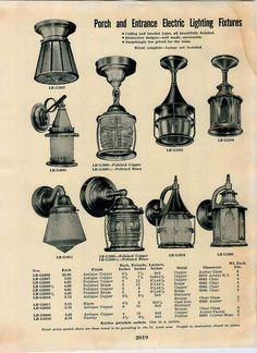 Porch Lights - 1939 Simmons Keen Kutter Lighting Catalog