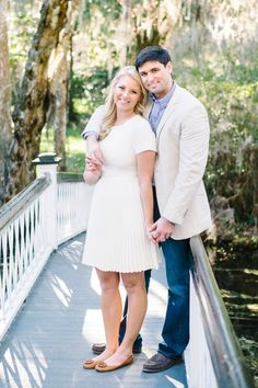 Cute pose for save the dates!  A Magnolia Plantation engagement session by Aaron and Jillian Photography » Charleston Wedding Photographers