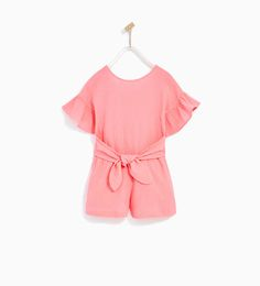 ZARA - KIDS - CREPE JUMPSUIT WITH BOW Outfits Barn 9dcf879c400ed