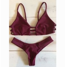 Sexy Solid color Bikini Set Swimsuit Swimwear