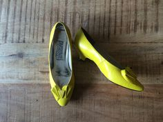 Shop Vintage 90's Bright Yellow Shoes by stylesbymariam on Etsy