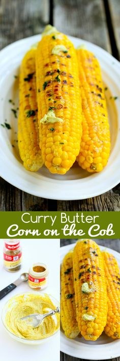 Curry Butter Corn on the Cob…Summertime corn just got even better with this easy, flavorful curry butter! 131 calories and 5 Weight Watchers SmartPoints