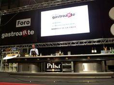 El escenario del #Forogastroarte en #SalonHyT por donde pasaron chefs de alto nivel del @GrupogastroArte