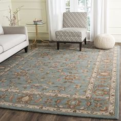 Safavieh Handmade Heritage Timeless Traditional Blue Wool Rug (6' x 9') - 13920310 - Overstock.com Shopping - Great Deals on Safavieh 5x8 - 6x9 Rugs