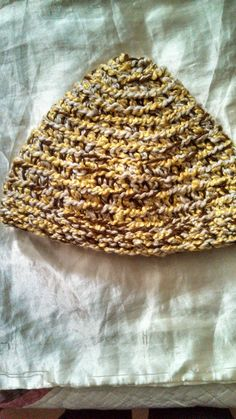 Spicy Brown Mustard Tweed Winter Hat by CrochetandMacrame on Etsy, $25.00