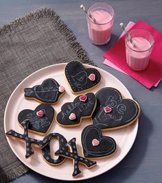 How To Make Chalkboard Love Note Cookies