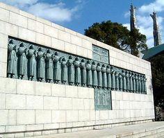twenty-six martyrs monument, nagasaki, japan