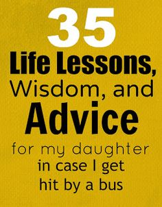 Great Advice for You and Your Daughter