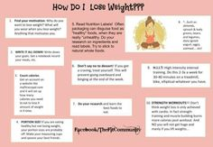 splicUSA.com: Great weight loss tips. Think positively, exercise daily, eat healthy, work hard, stay strong.