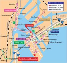 Map of how to get to Ooedo Onsen Monogatari in Tokyo