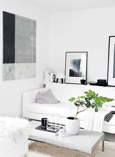 Beau Small Living Room Space With Plant Accents // Home Of Stylist Nina Holst
