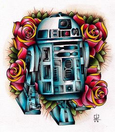 R2D2 Tattoo... Not for me, but someone out there would love this ;)