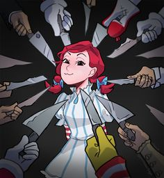 Fans Won't Stop Drawing Wendy's Mascot as a Smug Anime Girl Wendy Anime, Character Art, Character Design, Mundo Comic, Poses References, Anime Version, Stupid Funny Memes, Hilarious, Anime Meme