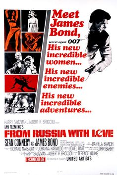 FROM RUSSIA WITH LOVE (1963) SEAN CONNERY IS BACK FOR ANOTHER TURN AS JAMES BOND,   THIS TIME AGAINST ANOTHER SEDUCTIVE NEMESIS.