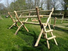 Scissor Bridge Ladder Farnham Park Rustic Trim Trail By Flights Of Fantasy Natural Outdoor Playground, Diy Playground, Outdoor Fun, Outdoor Fitness Equipment, Play Equipment, No Equipment Workout, Back Garden Landscaping, Backyard Patio Designs, Garden Paths