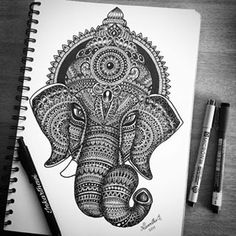 And its complete 😎 mandala mandala art, art drawings, art sketches. Mandalas Painting, Ganesha Painting, Mandala Artwork, Mandalas Drawing, Doodle Art Drawing, Zentangle Drawings, Zentangle Patterns, Art Drawings Sketches, Zentangles