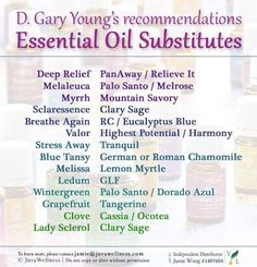 Young Living Essential Oils: Gary Young Essential Oils Substitutes