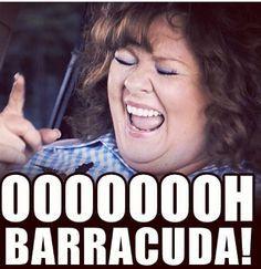 Ooooohhhhhh barracuda! I do believe there is a 'Melissa McCarthy' inside of me...oh yea!