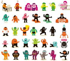 characters by Zeptonn, via Flickr.