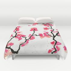 Cherry Blossoms Duvet Cover by Amaya