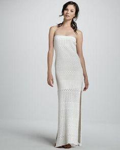 b8771d99539 Young Fabulous and Broke Lou Crochet Strapless Maxi Dress - Neiman Marcus
