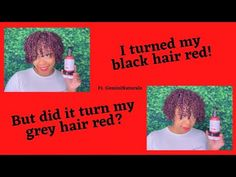 How to Dye your Hair Red with No Damage| Temporary Hair Color| Grey Hair... Grey Hair Cover Up, Red Hair, Black Hair, Temporary Hair Color, Gemini, Your Hair, Gray Color, Hair Black Hair, Twins